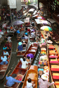 Floating Market at Damnern Saduak - Thailand rondreis Around The World Travel