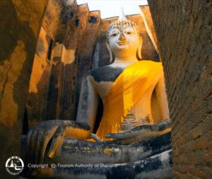 Sukhothai Wat Sri Chum - Thailand rondreis Around The World Travel